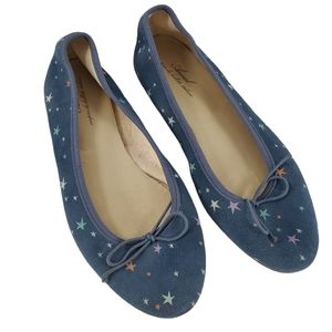 Anniel Leather Flats Multi Color Stars Blue EU 41